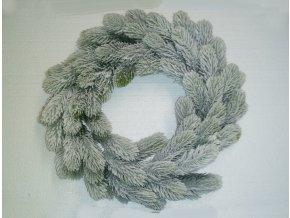 Umělý vánoční věnec Snowy (45cm) zeleno-bílý