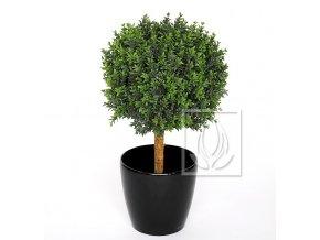 Umělý strom Buxus koule na kmeni (75/35cm)