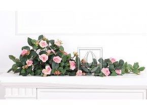 Umělá rostlina Převis z růží (70cm) růžový
