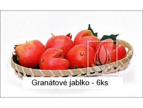 Umělé ovoce - Granátová jablka (6ks)