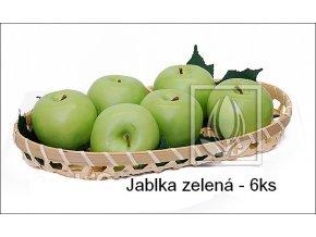 Umělé ovoce - Jablka zelená (6ks)