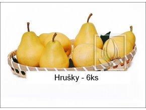 Umělé ovoce - Hrušky (6ks)