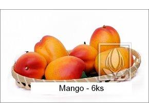 Umělé ovoce - Mango (6ks) žluto-červené