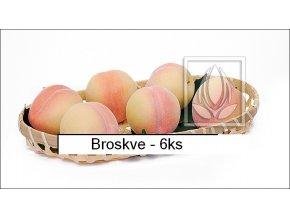 Umělé ovoce - Broskve (6ks)