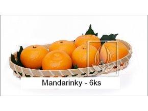 Umělé ovoce - Mandarinky (6ks)