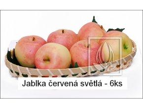 Umělé ovoce - Jablka červená světlá (6ks)