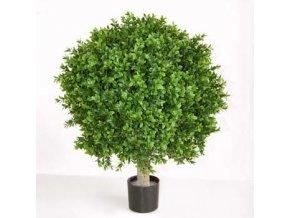 Umělý strom Boxwood Sphera (průměr 50cm, výška 70cm) na kmeni  buxus