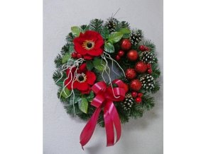Umělý vánoční věnec Vicenza (40cm)