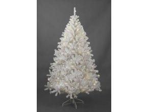 Umělý vánoční stromek Bianco LED (180cm) bílý