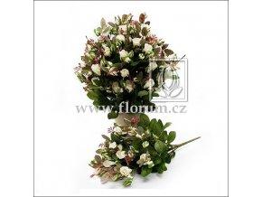 Umělá květina Růže Bush (40cm) bílá
