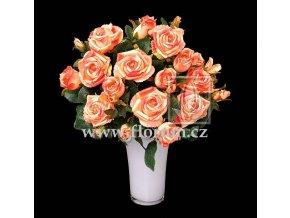 Umělá květina Růže puget (50cm) broskvová