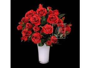 Umělá květina Růže puget (50cm) červená