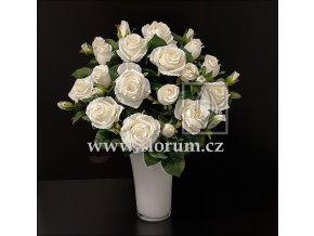 Umělá květina Růže puget (50cm) krémová