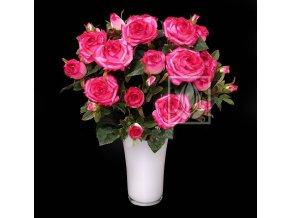 Umělá květina Růže puget (50cm) růžová