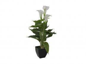 Umělá rostlina Kala (43cm) bílá