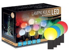 Světelný řetěz LED S10 (10m)  různé barvy