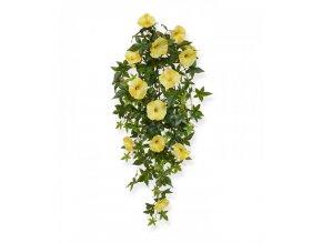 Umělá rostlina Petunie  převis (70cm) - žlutá