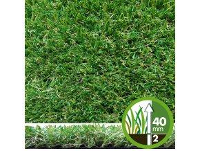 Umělý trávník IRISH MAT 40 (metráž)  cena za 1m2