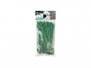 3046 stahovaci paska 20 cm 50 kusu zelena