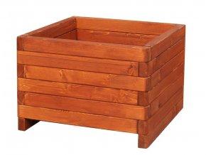 Dřevěný květináč zaob 60x60cm Dub