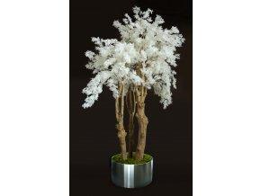 Fern Flower 3D Tree 220 cm White V5562W01