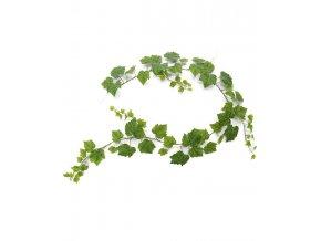 302618 druivenblad guirlande 180 cm groen liggend v3