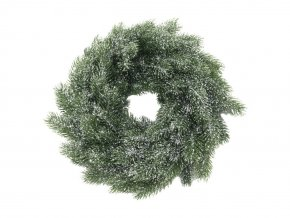 Umělý vánoční věnec (45cm) zeleno-bílý