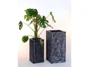 8518 kvetinac sklolaminat benito 30x60cm cerny
