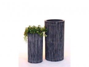 8557 kvetinac sklolaminat bianca 31x60cm cerna