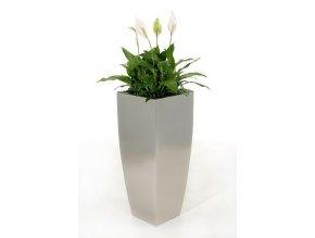 Květináč nerezový Cubic (90cm)
