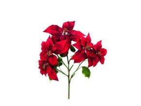 Umělá květina Poinsetia (60cm) červená