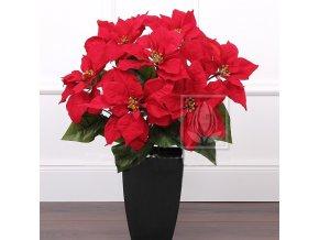 Umělá rostlina Poinsetia (55cm)  vánoční hvězda