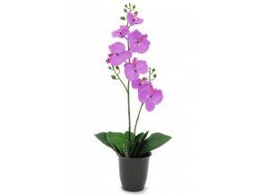 Umělá rostlina Orchidej (57cm) fialová