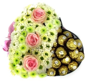 Květinové krabičky s čokoládovými bonbony
