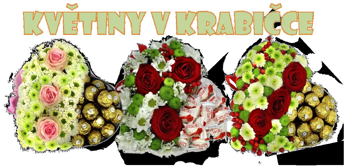Květinové krabičky s bonbony