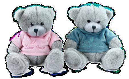 Kytice růží a plyšový medvídek