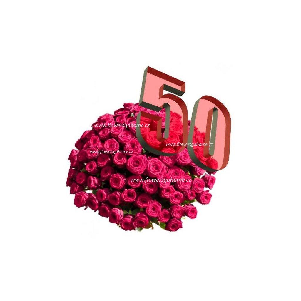Kytice 50 růží