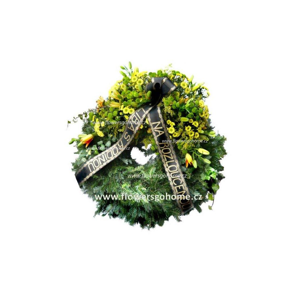 Smuteční květiny věnec