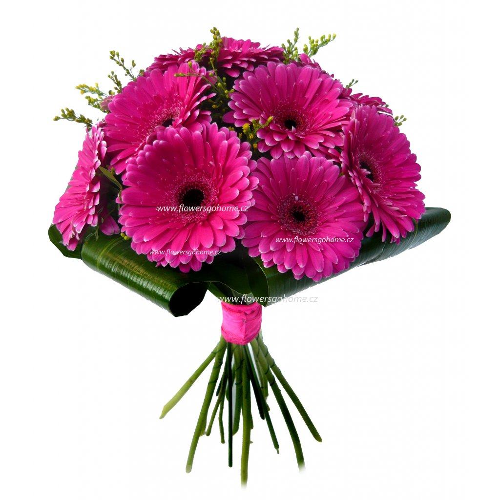 Kytice růžových gerber