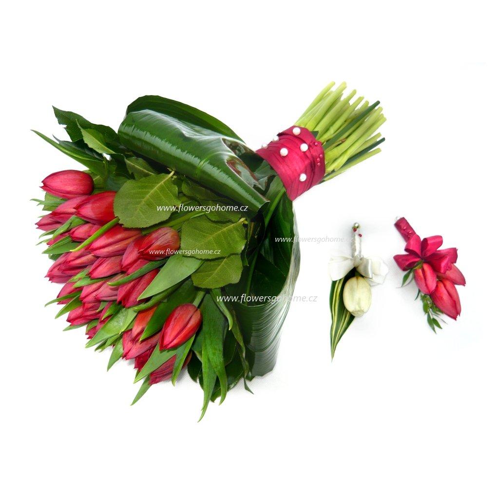 Svatebni Kytice Z Tulipanu