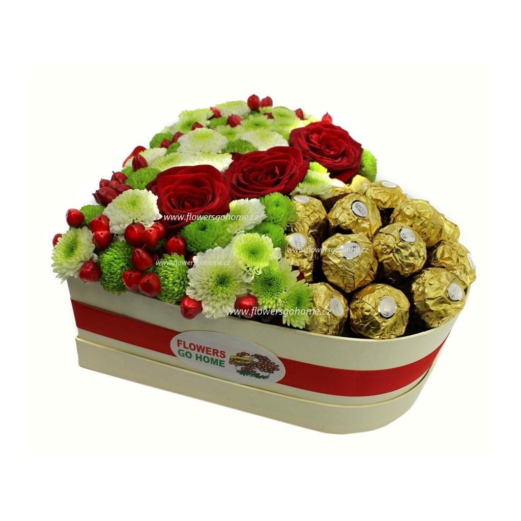 Srdce s Ferrero Rocher