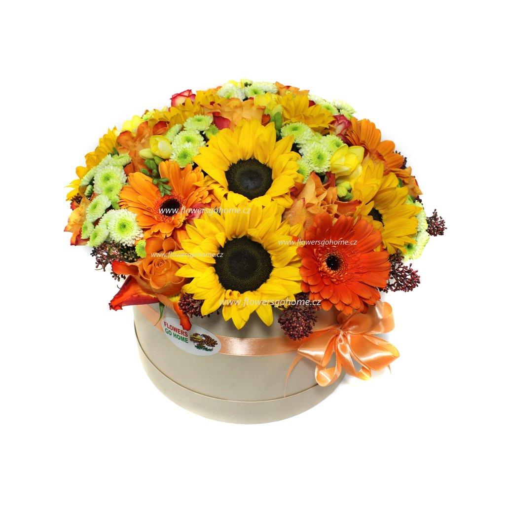Oranžový flowerbox