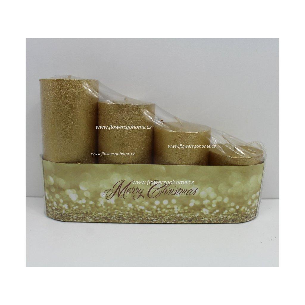 Adventní svíčky rustikální zlaté