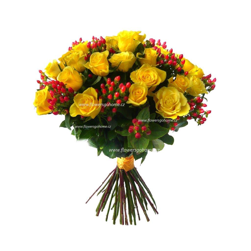 Kytice růží žlutých
