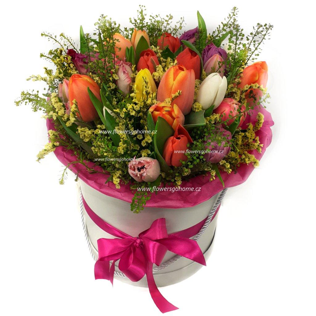 Tulipány flowerbox