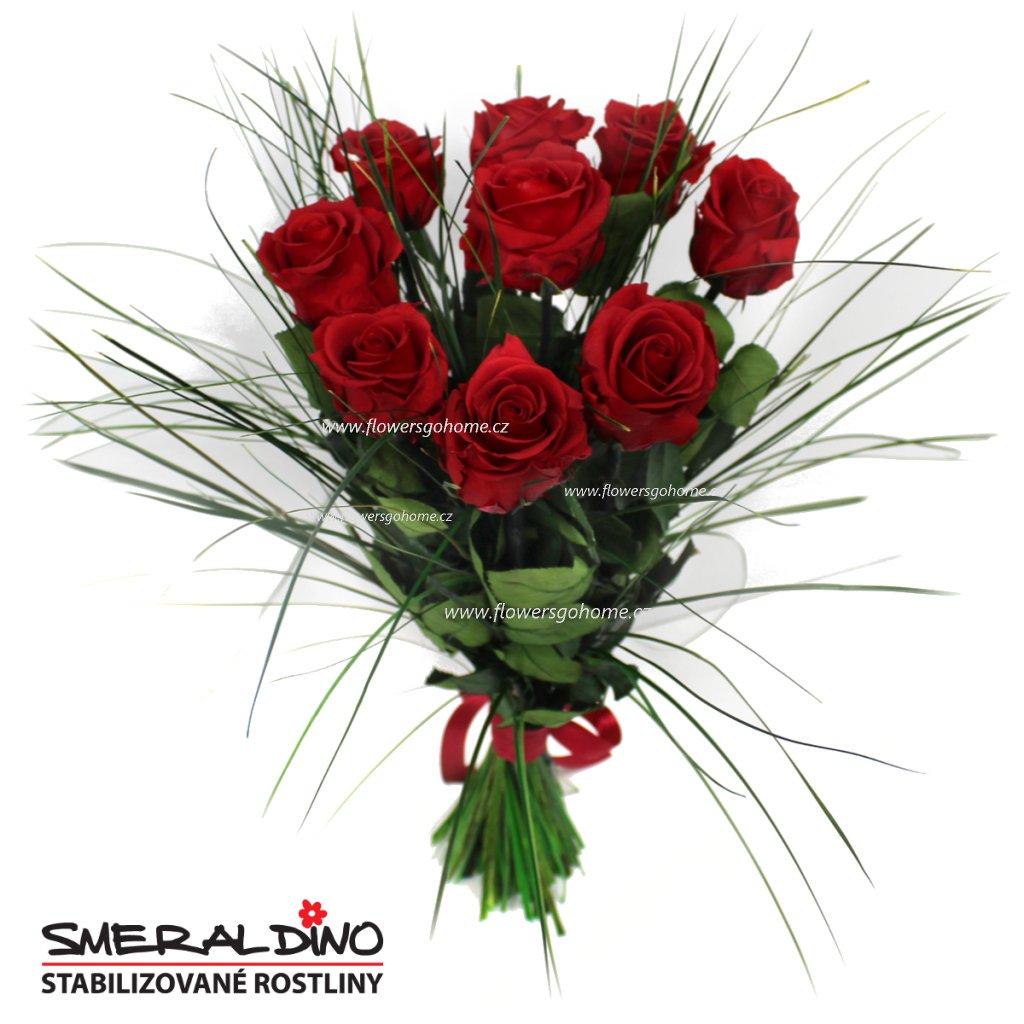 Stabilizovaná růže kytice