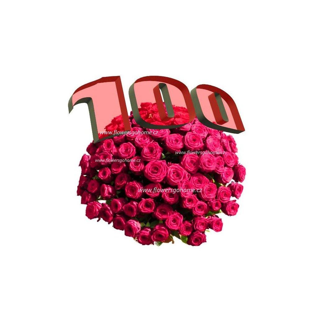 Kytice 100 růží