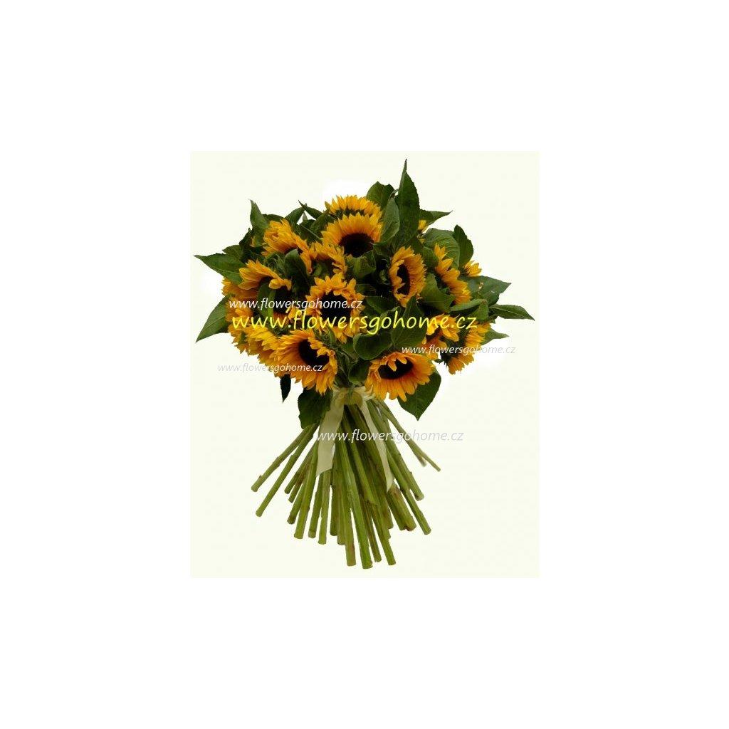 Velká kytice slunečnic