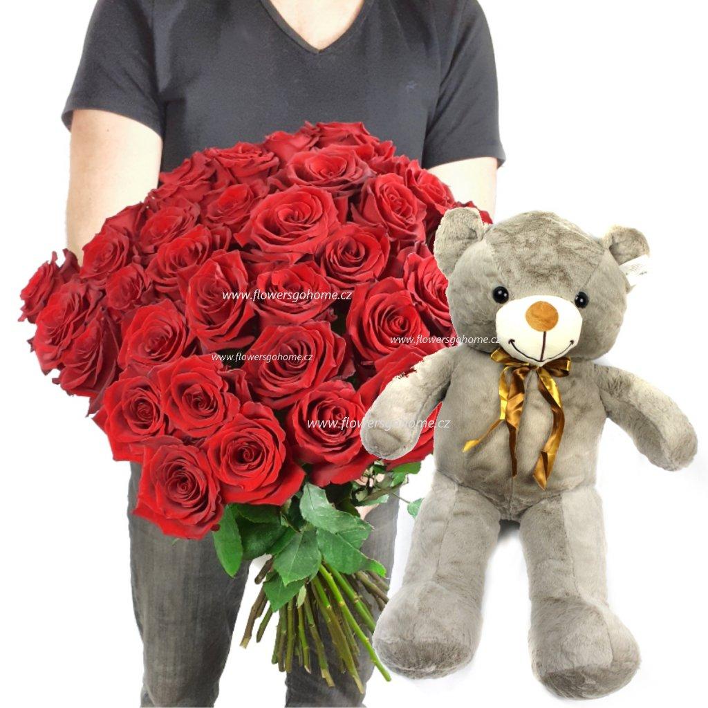 Kytice růží k Valentýnu