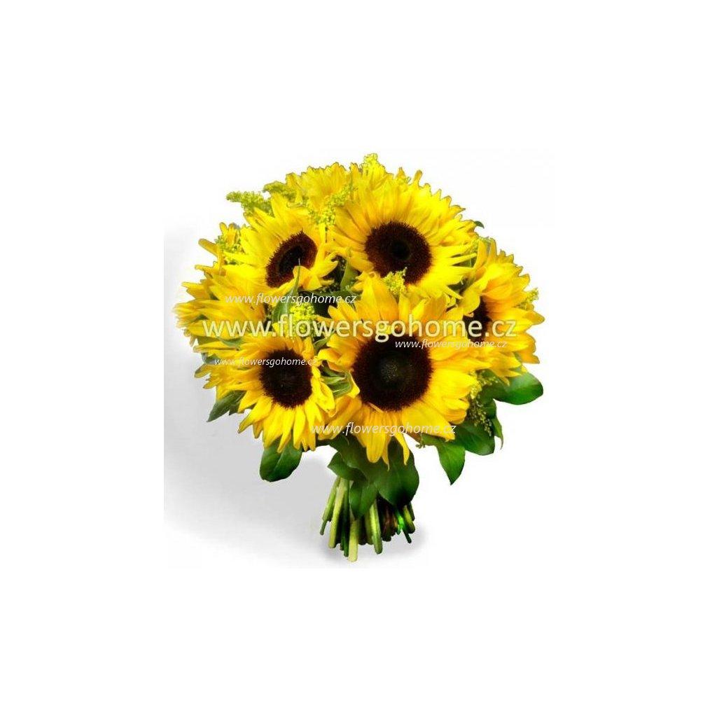 Letní kytice slunečnic